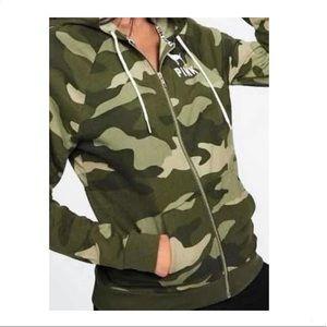 Victoria's Secret PINK camo hoodie sweater✨